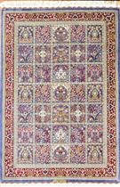Qum Kheshti Four Season  Silk Persian Rug