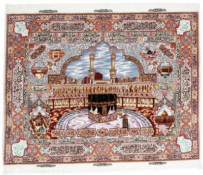 Kabbeh Tabriz Religious Tableau rug  Wool Persian Tableau Rug (Pictorial Carpet)