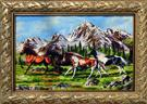 Mountain Horse Wool Persian Tableau Rug (Pictorial Carpet)