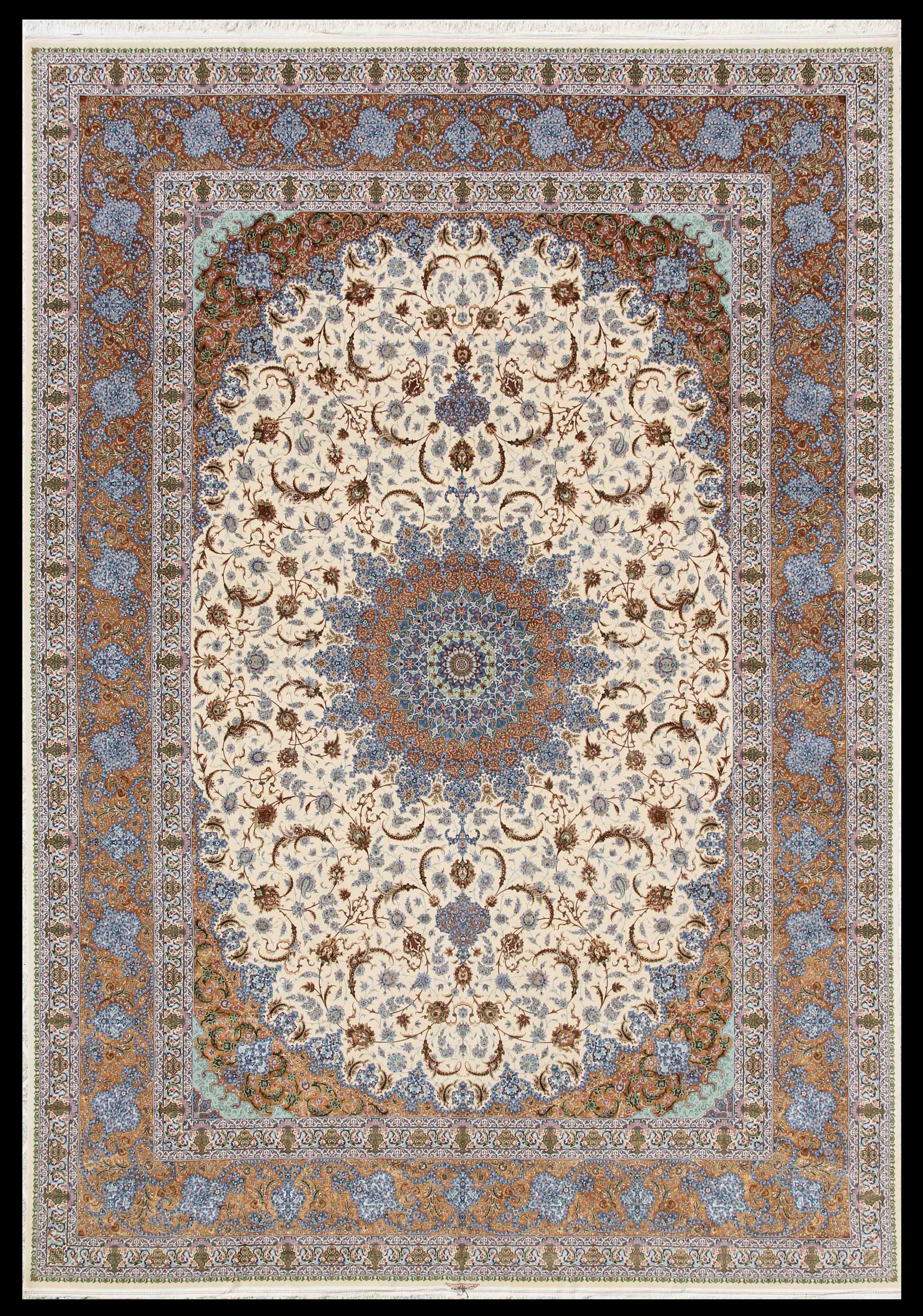 Private Collection Of Isfahan Mehdiei 4x6 5x7 Silk