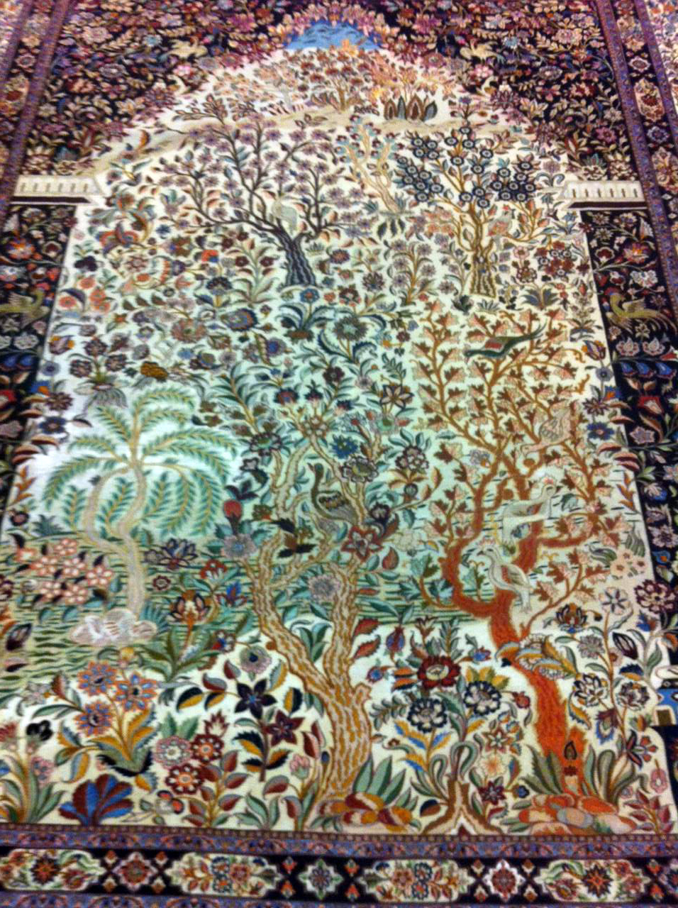 Tree Of Life Museum Piece Private Collection Silk Persian