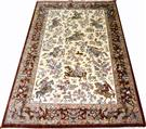 Hunting Scene Silk Persian Rug