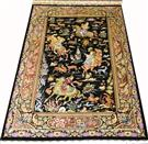 Hunting Scene Animal Qum Pure Silk Silk Persian Rug