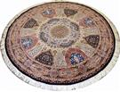Royal Gonbad Round Emami Design Silk Persian Rug